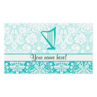 Teal Harp Business Card