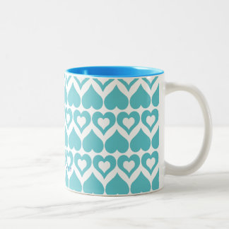 Teal Heart Elegant Kitchen Gifts Mugs