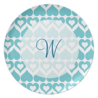 Teal Heart Elegant Kitchen Gifts Plate