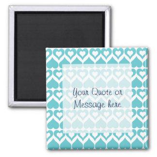 Teal Heart Elegant Kitchen Gifts Square Magnet