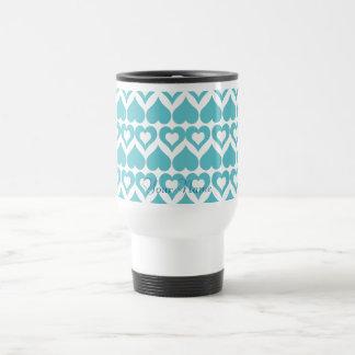 Teal Heart Elegant Kitchen Gifts Travel Mug