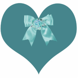 Teal Heart Magnet Acrylic Cut Out