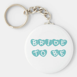 Teal Hearts Bride to Be Keychains