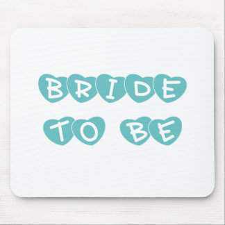 Teal Hearts Bride to Be Mouse Pad