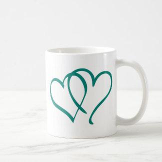 Teal Hearts Mugs