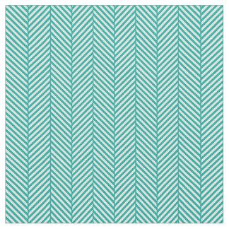 Teal Herringbone Fabric