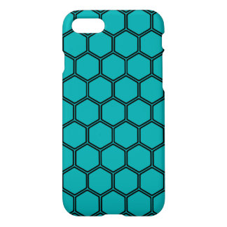 Teal Hexagon 3 iPhone 7 Case