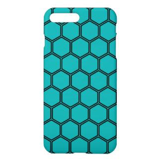 Teal Hexagon 3 iPhone 7 Plus Case