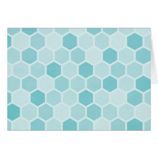 Teal Hexagons Note Card