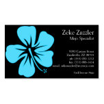 Teal Hibiscus Business Card Template