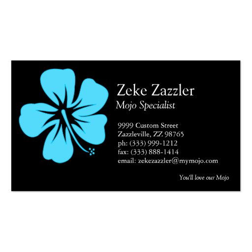 Teal Hibiscus Pack Of Standard Business Cards