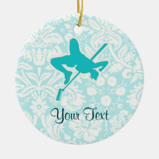 Teal High Jump Christmas Ornament