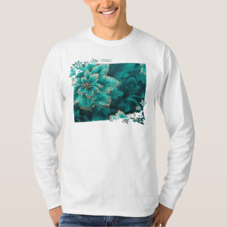 Teal Holiday Poinsettia Gifts & Collectibles Tee Shirt
