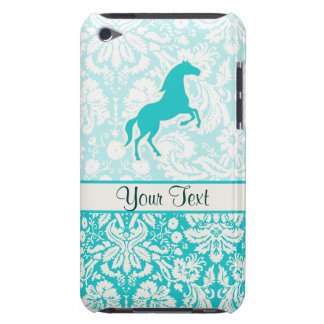 Teal Horse Barely There iPod Cases