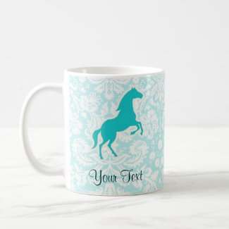 Teal Horse Coffee Mug