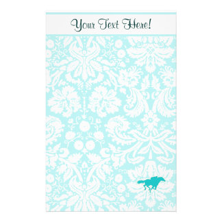 Teal Horse Racing Stationery
