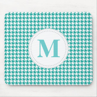 Teal Houndstooth Mouse Mat