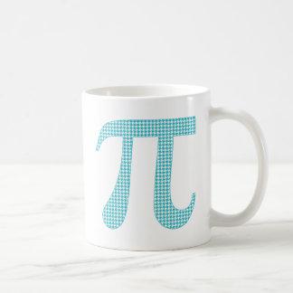 Teal Houndstooth Pi.png Basic White Mug