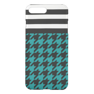 Teal Houndstooth w/ Stripes 2 iPhone 7 Plus Case