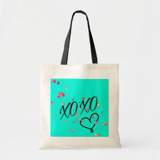 Teal Hugs & Kisses Tote