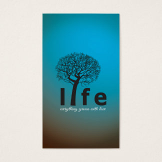 Teal Inspirational Life Tree Quote