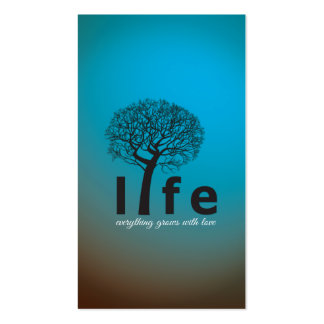 Teal Inspirational Life Tree Quote Pack Of Standard Business Cards