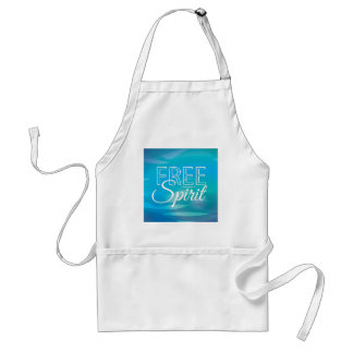 Teal Inspirational Spritiual Freedom Quote Aprons