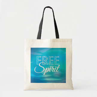 Teal Inspirational Spritiual Freedom Quote Tote Bags