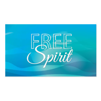 Teal Inspirational Spritiual Freedom Quote Business Cards