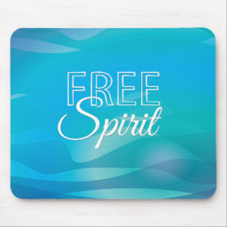 Teal Inspirational Spritiual Freedom Quote Mouse Pads