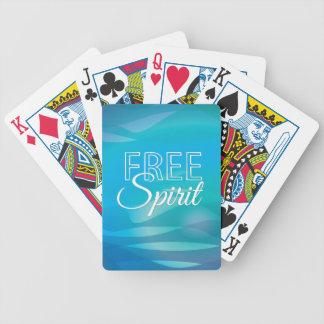 Teal Inspirational Spritiual Freedom Quote Bicycle Card Decks