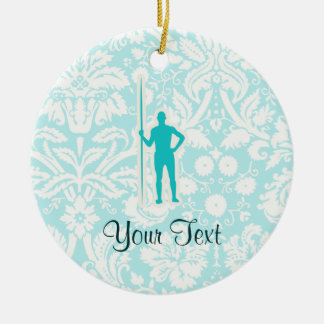 Teal Javelin Throw Christmas Ornament