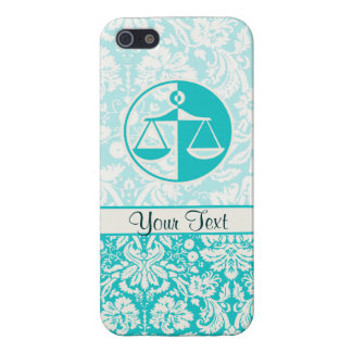 Teal Justice Scales iPhone 5/5S Covers