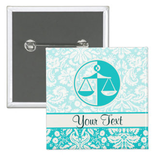 Teal Justice Scales Pin