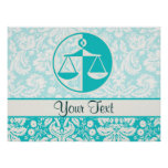 Teal Justice Scales Poster