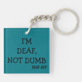 Teal Key-Chain, printed Key Ring