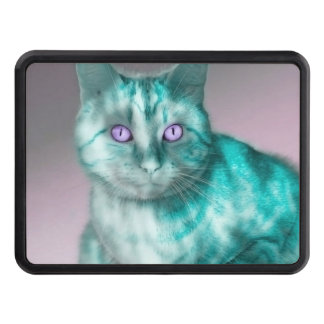 Teal Kitty Tow Hitch Covers