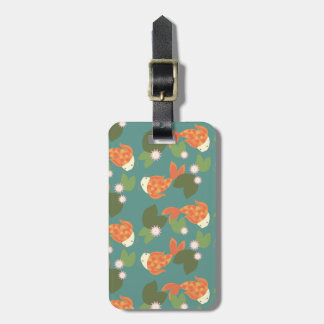 Teal Koi Pond Luggage Tag