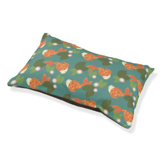 Teal Koi Pond Pet Bed