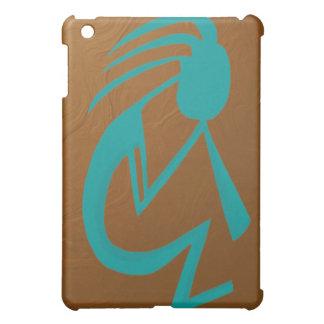 Teal Kokopelli iPad Mini Case