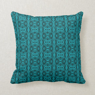 Teal Lace Cushion