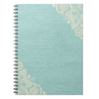 Teal Lace Notebook