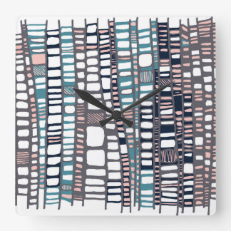 Teal layers wall clocks