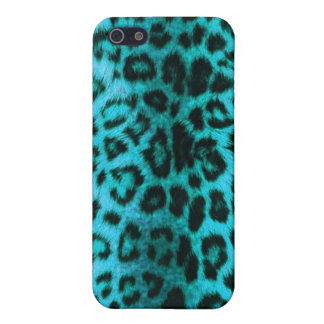 Teal Leopard Print iPhone 5 Cases