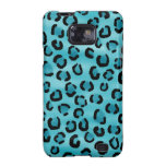 Teal Leopard Print Pattern. Samsung Galaxy S2 Covers