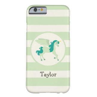 Teal & Light Green Unicorn iPhone 6 Case