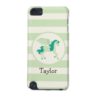 Teal & Light Green Unicorn iPod Touch (5th Generation) Covers