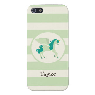 Teal & Light Green Unicorn iPhone 5/5S Cover