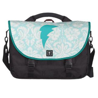 Teal Lightning Bolt Laptop Bag