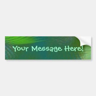 Teal Lime Sage Olive Green Whirlwind Swirls Bumper Sticker